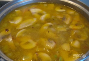 Суп со свининой и шампиньонами - фото шаг 8