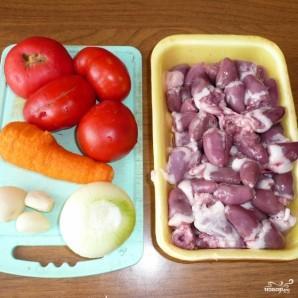 Куриные сердечки - фото шаг 1