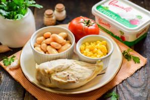 Салат с фасолью и брынзой - фото шаг 1