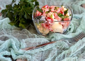 Салат из цветной капусты и брокколи с яйцом - фото шаг 5