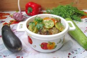 Баклажаны с кабачками в томатном соусе - фото шаг 7