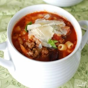 Густой итальянский томатный суп с макаронами и фаршем - фото шаг 16