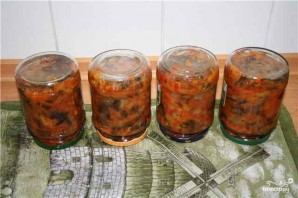 Солянка с баклажанами и капустой - фото шаг 6
