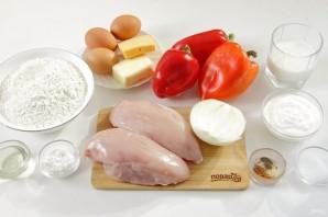 Пирог со сладким перцем и курицей - фото шаг 1