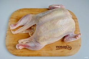 Курица, фаршированная блинами (праздничная) - фото шаг 13