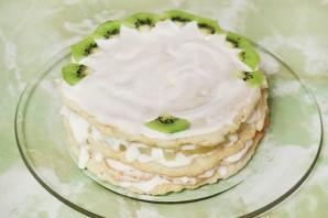 Торт сметанный с фруктами - фото шаг 4