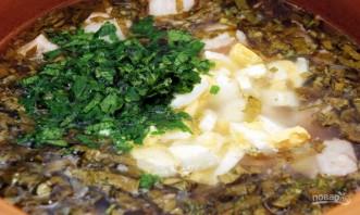 Щавелевый суп с мясом и яйцом - фото шаг 6