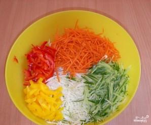 Салат из капусты и сладкого перца - фото шаг 2