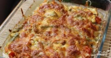 Куриный стейк под овощами и сыром - фото шаг 7