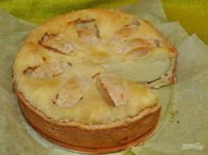 Песочный пирог с яблоками и творогом - фото шаг 9