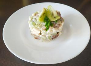 Салат с грибами и яблоками - фото шаг 7