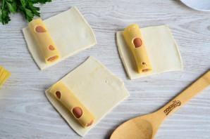 Сосиски с сыром в тесте - фото шаг 3