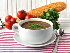Томатный суп с нутом и беконом - фото шаг 9