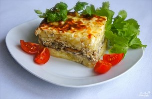 Картофельная запеканка с маринованными грибами - фото шаг 5