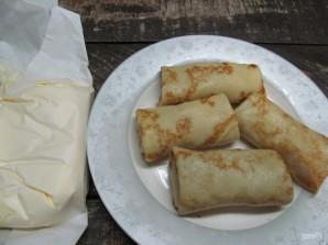 Блинчики с консервированным лососем и рисом  - фото шаг 10