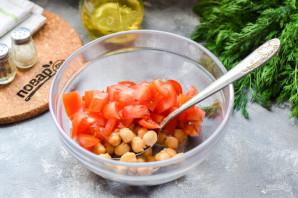 Салат с нутом и тунцом - фото шаг 3