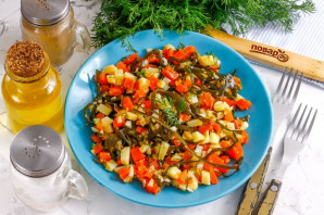 Вкусный салат из морской капусты - фото шаг 7