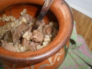 Перловка со свининой в духовке - фото шаг 5