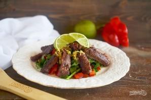 Теплый салат из говядины - фото шаг 9