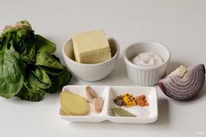 Палак панир с тофу - фото шаг 1