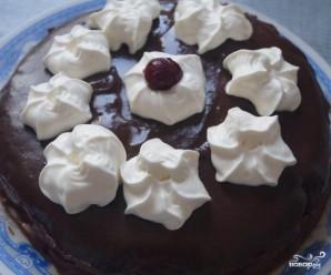 Вишневый торт со сливками - фото шаг 7