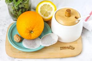 Апельсиновый чай с имбирем - фото шаг 1