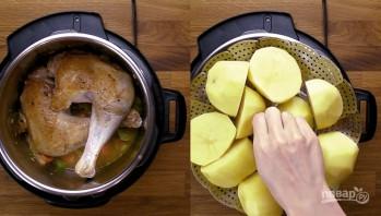 Индейка с картошкой в скороварке - фото шаг 4