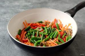 Гречневая лапша вок с овощами - фото шаг 6