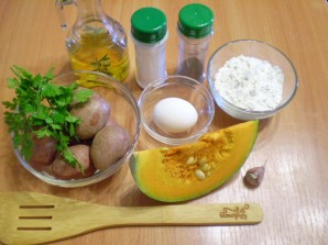 Оладьи из тыквы с картофелем - фото шаг 1