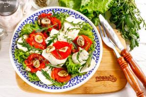 Салат с вялеными помидорами и рукколой - фото шаг 5