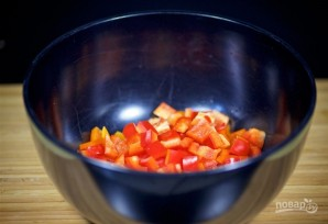 Салат с овощами, ветчиной и макаронами - фото шаг 2
