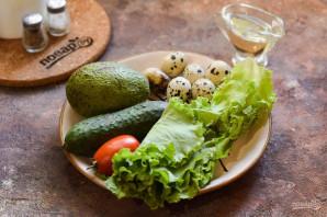 Салат с авокадо и перепелиными яйцами - фото шаг 1