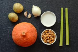 Тыквенный суп с кокосовым молоком - фото шаг 1