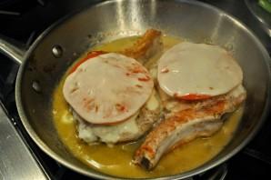 Мясо с помидорами и сыром - фото шаг 8