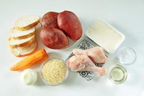 Суп с курицей, рисом и плавленым сыром - фото шаг 1