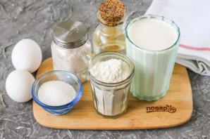 Заварные блины на молоке с дырочками - фото шаг 1
