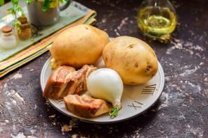 Картошка с копченой грудинкой - фото шаг 1
