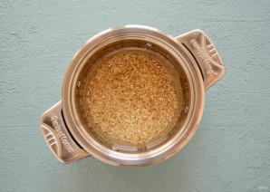 Розовый рис - фото шаг 3