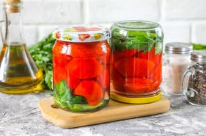 Резанные помидоры с маслом на зиму - фото шаг 8