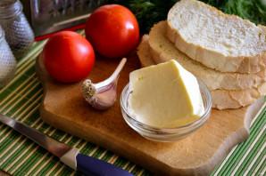 Бутерброд с брынзой - фото шаг 1
