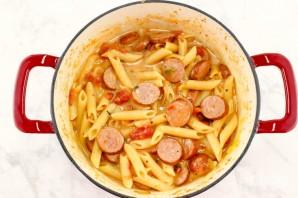 Паста с сосисками и сыром - фото шаг 3