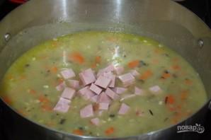Суп с ветчиной и диким рисом - фото шаг 4