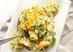 Запеченный картофель с брокколи и сыром  - фото шаг 10