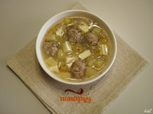 Сырный суп с фрикадельками - фото шаг 10