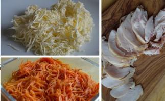Лаваш с курицей и морковью - фото шаг 1