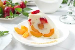 Желейный торт «Абрикосы в сметане» - фото шаг 7