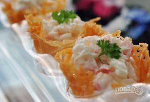 Закусочные сырные корзинки - фото шаг 5