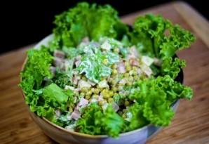 Салат с горошком и ананасом - фото шаг 8