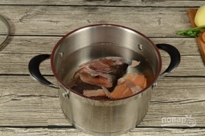 Суп из головы горбуши - фото шаг 2