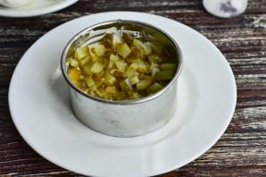 Слоеный салат с мясом - фото шаг 3